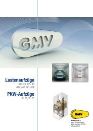 Lastenaufzüge PKW-Aufzüge - G.m.v.
