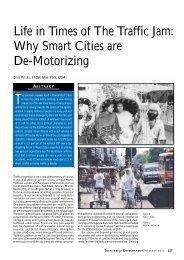 Life in Times of The Traffic Jam: Why Smart Cities are De-Motorizing
