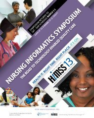 Nursing Informatics Symposium - The Road to Technology-Enabled ...