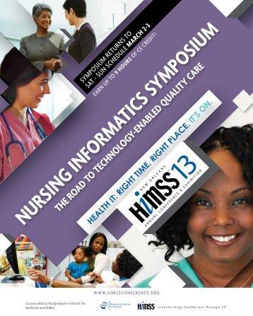 Nursing Informatics Symposium - The Road to Technology-Enabled ...
