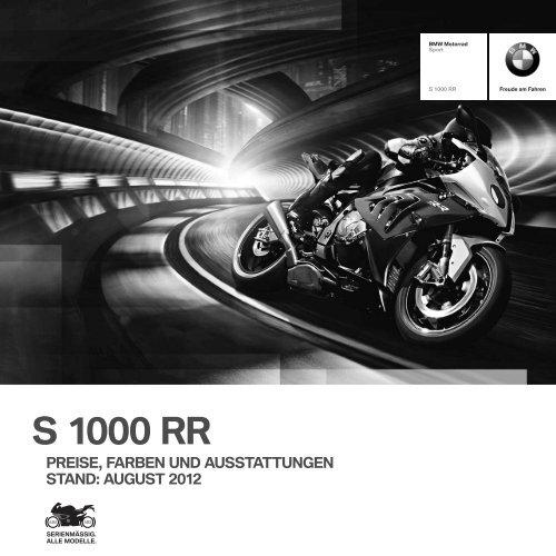 Preisliste S 1000 RR - BMW Motorrad Deutschland