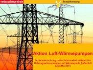 Aktion Luft-Wärmepumpen: Grobuntersuchung realer ...