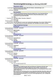 Vereinsregisterauszug zum Stichtag 26.06.2007 - FSG