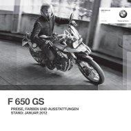 SERIENAUSSTATTUNG F 650 GS SONNENGELB