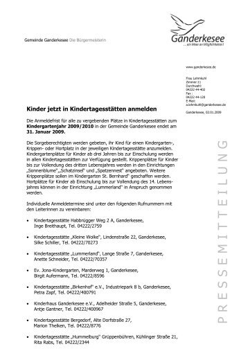 Herrn/Frau Mustermann - Gemeinde Ganderkesee
