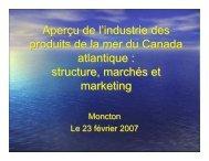 Aperçu de l'industrie des produits de la mer du Canada atlantique ...