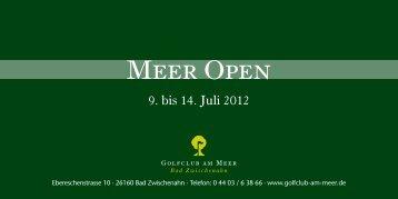 Meer Open - Golfclub am Meer