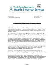 SC Hospitals and Medicaid partner to reduce preterm births