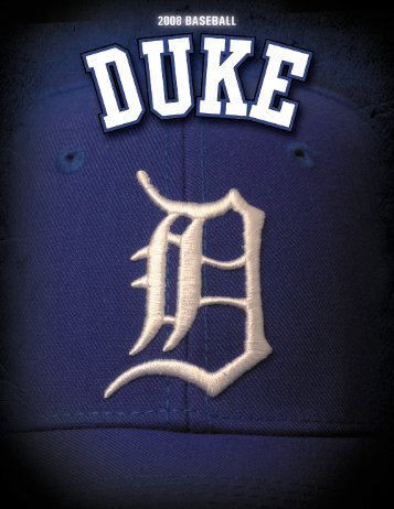 2008 Duke Baseball Media Guide - Home Page Content Goes Here