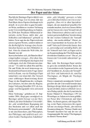 Prof. Dr. Hubertus Mynarek Der Papst und der Islam
