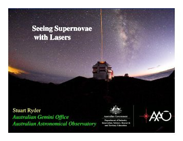 Seeing Supernovae with Lasers - Gemini Observatory