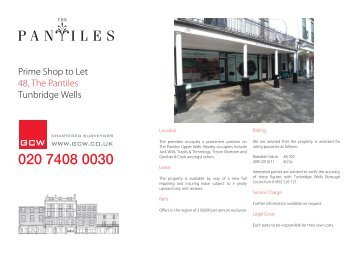 Prime Shop to Let 48, The Pantiles Tunbridge Wells - GCW