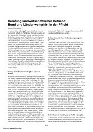 Beratung landwirtschaftlicher Betriebe: Bund und ... - AgEcon Search