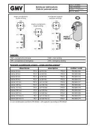 Bobine per elettrovalvole Coils for solenoid valves Legenda ... - G.m.v.