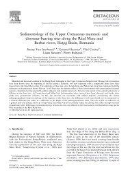 Sedimentology of the Upper Cretaceous mammal- and ... - geo.edu.ro