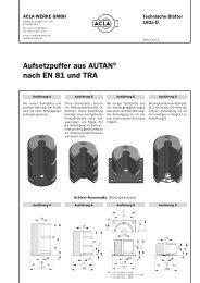 Aufsetzpuffer aus AUTAN® nach EN 81 und TRA - G.m.v.