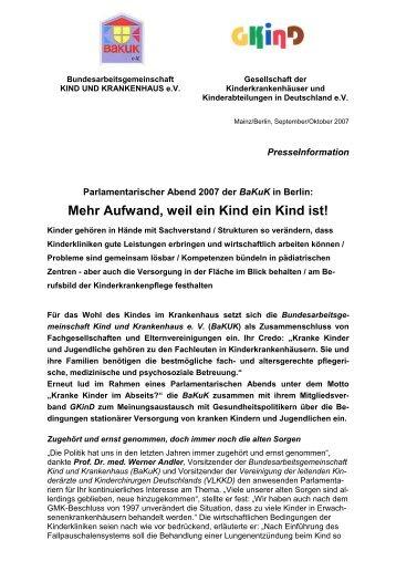 2007 Pressetext Parl Abend - GKinD