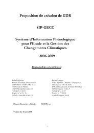 GDR SIP-GECC - CNRS