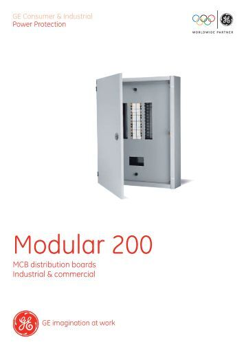 Modular 200 - MCB distribution boards - G E Power Controls