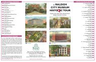 the RALEIGH CITY MUSEUM HISTO IC TOUR - Downtown Raleigh ...