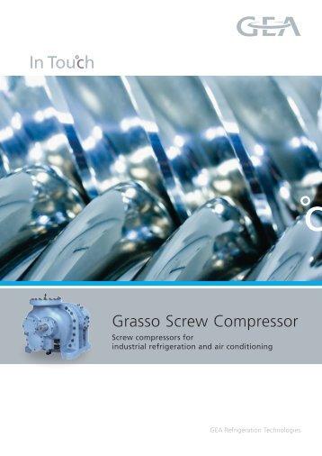 Grasso Screw Compressor - GEA Refrigeration Technologies