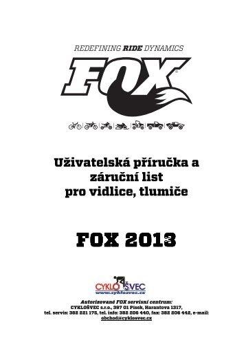 (Manuál k vidlicím a tlumičům FOX 2013) - Giant Bicycles