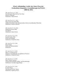 Archiv Jour Fixes Wien 2000 bis 2012 - Integrative Gestalttherapie