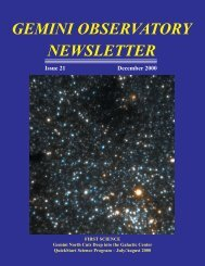 Issue 21 - December 2000 - Gemini Observatory