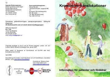 Kromosom translokationer - Genetic Alliance UK