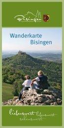 Wanderkarte Bisingen - Gemeinde Bisingen
