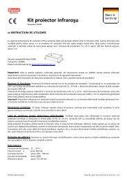 Kit proiector infraroşu - German Electronics