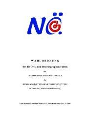 W A H L O R D N U N G für die Orts- und Bezirksgruppenwahlen - FSG