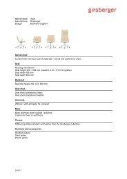 Text for tenders swivel chair - Girsberger