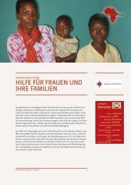 HILFE FÜR FRAUEN UND IHRE FAMILIEN - Gemeinsam für Afrika