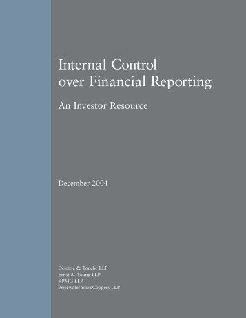 Internal Control over Financial Reporting: An Investor ... - GMI Ratings