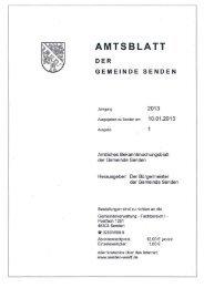 Amtsblatt Nr. 1/2013 - Gemeinde Senden