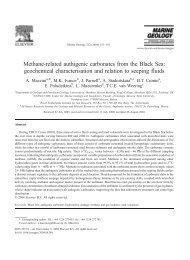 Methane-related authigenic carbonates from the Black ... - geo.edu.ro