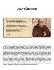 Neo-Platonism - Grand Lodge Bet-El