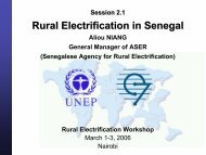 Rural Electrification in Senegal - Global Sustainable Electricity ...