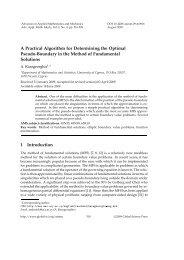 A Practical Algorithm for Determining the Optimal Pseudo-Boundary ...