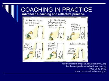 COACHING IN PRACTICE - reconnect.salvos.org.au