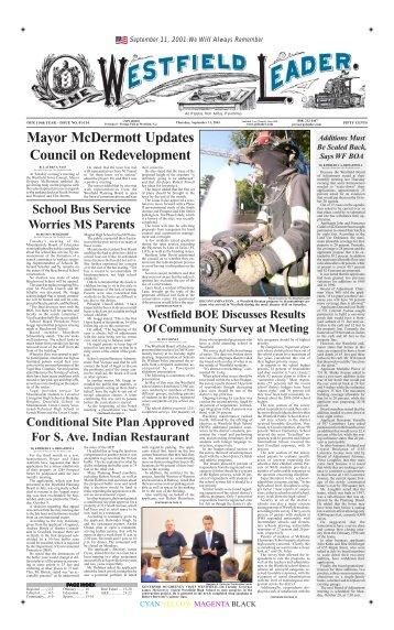 03sep11 newspaper - The Westfield Leader