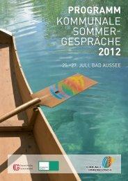Programm der Kommunalen Sommergespräche 2012 von 25. bis