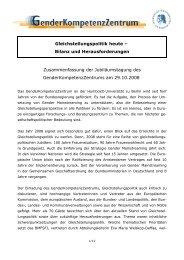 Zusammenfassung - GenderKompetenzZentrum