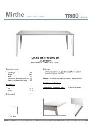 Dining table 180x90 cm