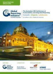 Download the Registration Brochure - Global Reporting Initiative