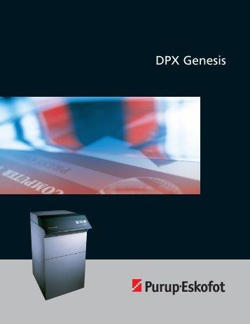 DPX Genesis Brochure - Genesis Equipment Marketing