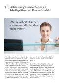 """Information """"Alles für den Kunden? Arbeitsbelastungen und ... - DGUV - Seite 7"""