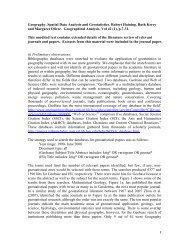 Geography, Spatial Data Analysis and Geostatistics. Robert Haining ...