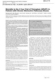 Mortality in the 4-Year Trial of Tiotropium (UPLIFT) in ... - GOLD